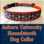 Auburn University Tigers Houndstooth Designer Dog Collar Product Image No1