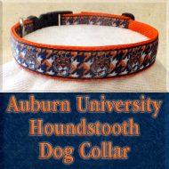 Auburn University Tigers Houndstooth Designer Dog Collar Product Image No1