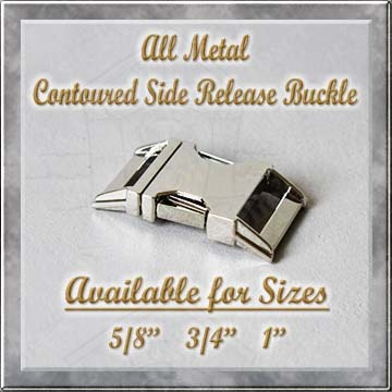 All Metal Contoured Side Release Buckle