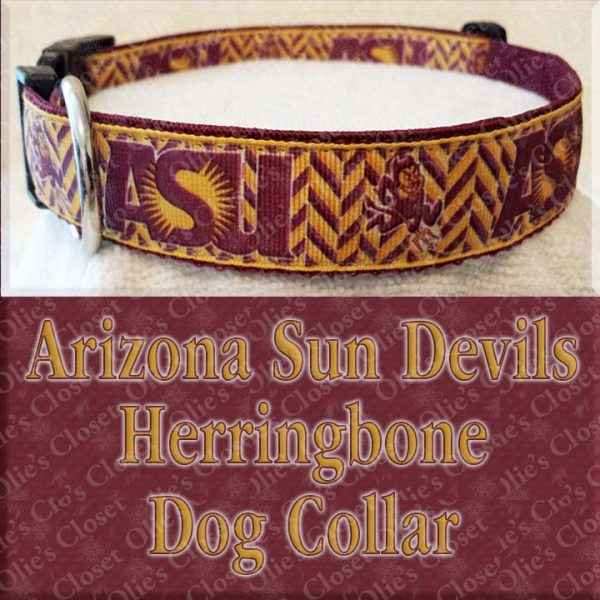 Arizona Sun Devils Herringbone Dog Collar Product Image No1