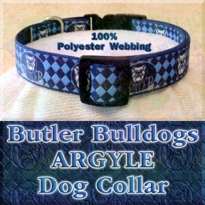 Butler University Bulldogs Herringbone Polyester Webbing Designer Dog Collar Product Image No1