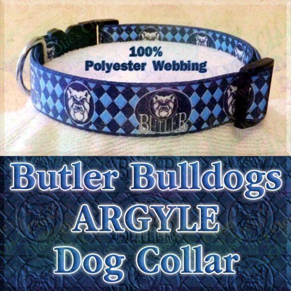 Butler University Bulldogs Herringbone Polyester Webbing Designer Dog Collar Product Image No3