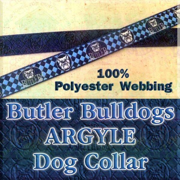 Butler University Bulldogs Herringbone Polyester Webbing Designer Dog Collar Product Image No2