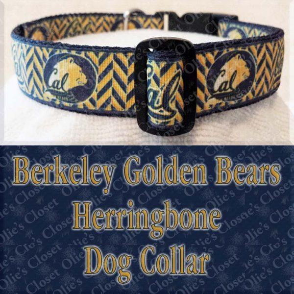Berkeley Golden Bears Herringbone Dog Collar Product Image No2