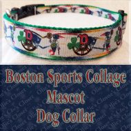 Boston Sports Collage Mascot Designer Dog Collar Product Image No1