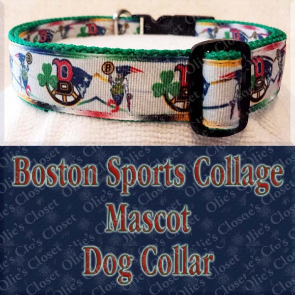 Boston Sports Collage Mascot Designer Dog Collar Product Image No2