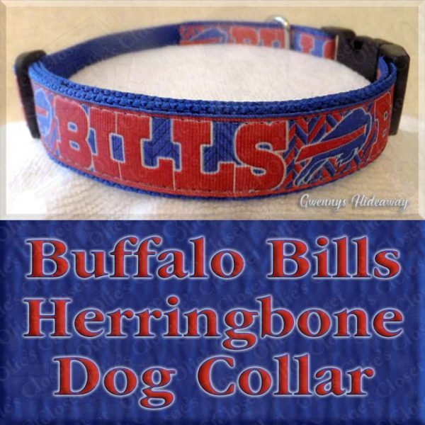 Buffalo Bills Herringbone Dog Collar Product Image No1