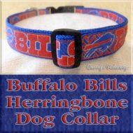 Buffalo Bills Herringbone Dog Collar Product Image No2