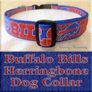 Buffalo Bills Herringbone Dog Collar Product Image No2