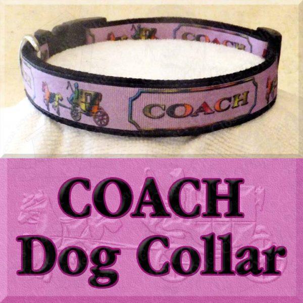 Pink COACH Dog Collar Product Image No1