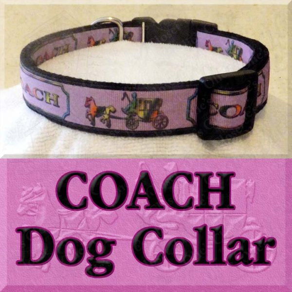 Pink COACH Dog Collar Product Image No2