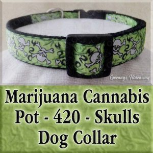 Cannabis Marijuana 420 Dog Collar Product Image No2