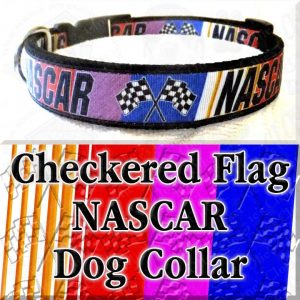 Checkered Flag NASCAR Dog Collar Product Image No1