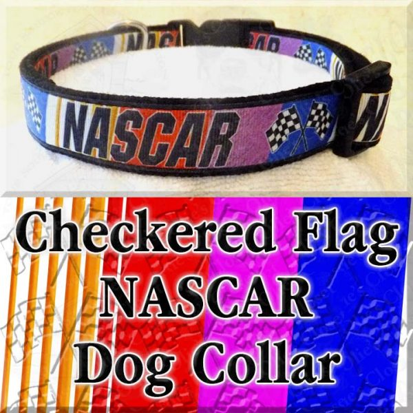 Checkered Flag NASCAR Dog Collar Product Image No2