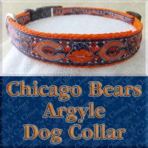Chicago Bears Fancy Argyle Dog Collar Product Image No1