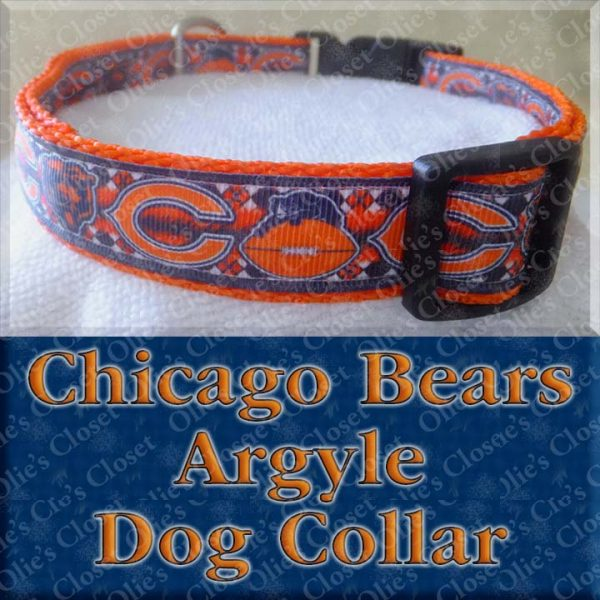 Chicago Bears Fancy Argyle Dog Collar Product Image No2