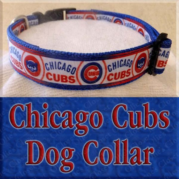 Chicago Cubs Designer Dog Collar Product Image No2