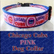 Chicago Cubs PINK Dog Collar Product Image No2