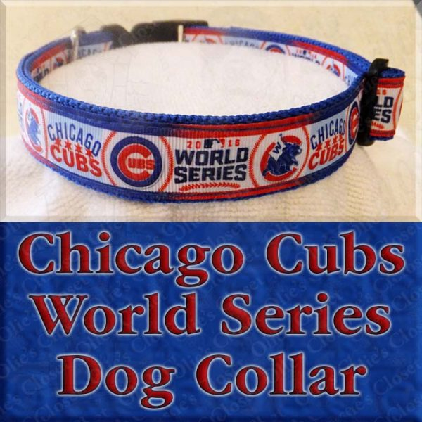 Chicago Cubs World Series Dog Collar Product Image No1