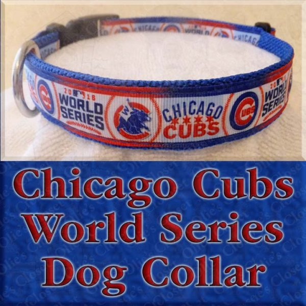 Chicago Cubs World Series Dog Collar Product Image No2