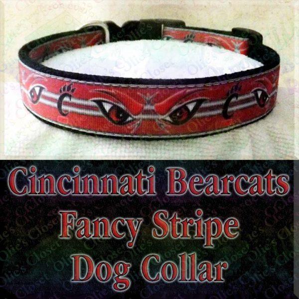 University of Cincinnati Bearcats Designer Dog Collar Product Image No1