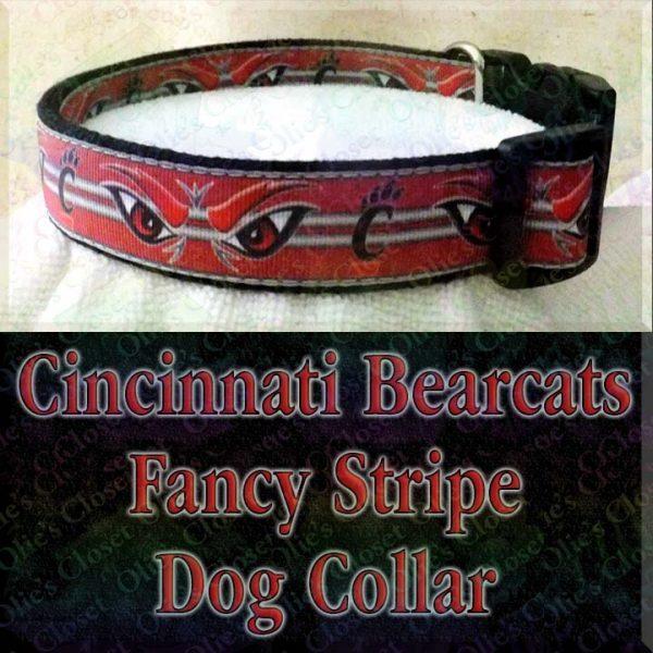 University of Cincinnati Bearcats Designer Dog Collar Product Image No2