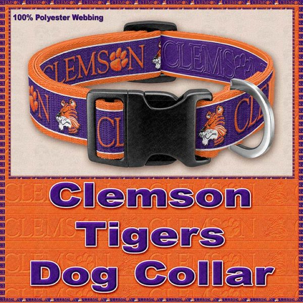 Clemson Tigers Designer Dog or Cat Collar Product Image