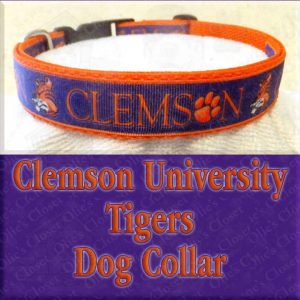 Clemson University Tigers Designer Dog Collar Product Image No2
