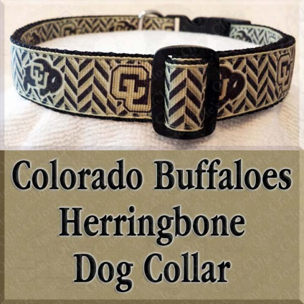 Colorado Buffaloes Herringbone Dog Collar Product Image No2