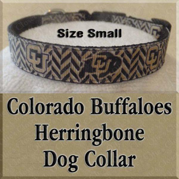 Colorado Buffaloes Herringbone SMALL Dog Collar Product Image No1