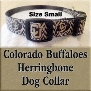 Colorado Buffaloes Herringbone SMALL Dog Collar Product Image No2