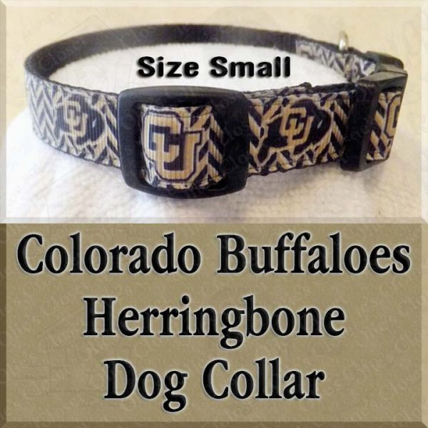 Colorado Buffaloes Herringbone SMALL Dog Collar Product Image No2