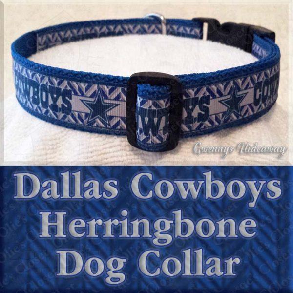 Dallas Cowboys Herringbone Dog Collar Product Image No1