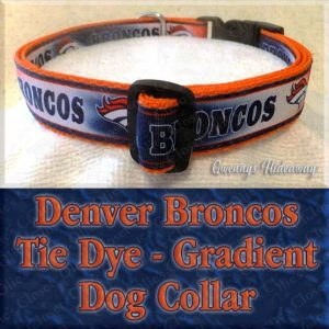 Denver Broncos Tie Dye Gradient Dog Collar Product Image No1