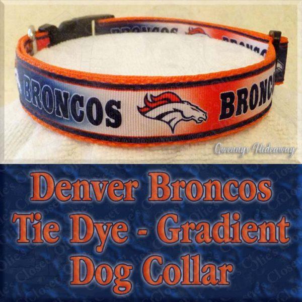 Denver Broncos Tie Dye Gradient Dog Collar Product Image No2