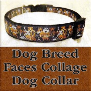 Dog Breed Faces Dog Collar Product Image No2
