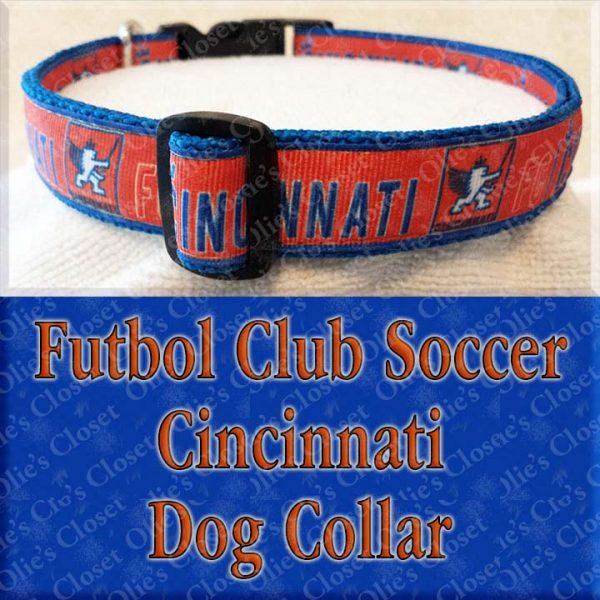 Futbol Club Soccer Cincinnati Dog Collar Product Image No1