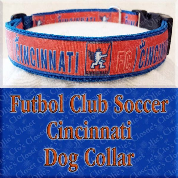 Futbol Club Soccer Cincinnati Dog Collar Product Image No2