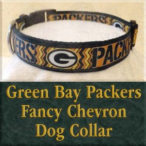 Green Bay Packers Fancy Chevron Dog Collar Product Image No1