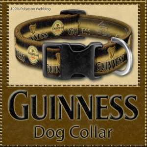 Guinness Stout Beer Designer Dog Collar Product Image No1