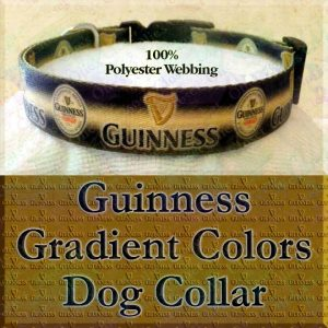 Guinness Stout Ale Beer Polyester Webbing Designer Dog Collar Product Image No1