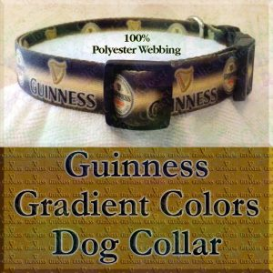 Guinness Stout Ale Beer Polyester Webbing Designer Dog Collar Product Image No3