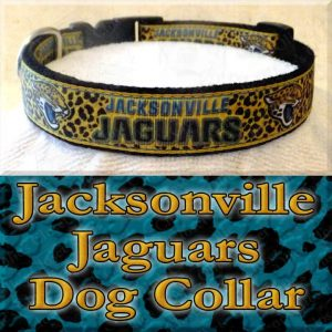 Jacksonville Jaguars Designer Dog Collar Product Image No1