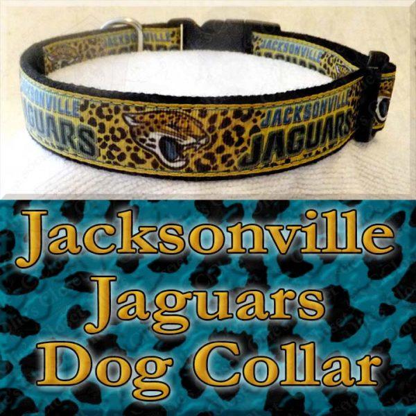 Jacksonville Jaguars Designer Dog Collar Product Image No2