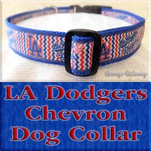 Los Angeles LA Dodgers Chevron Dog Collar Product Image No2