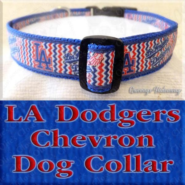 Los Angeles LA Dodgers Chevron Dog Collar Product Image No2