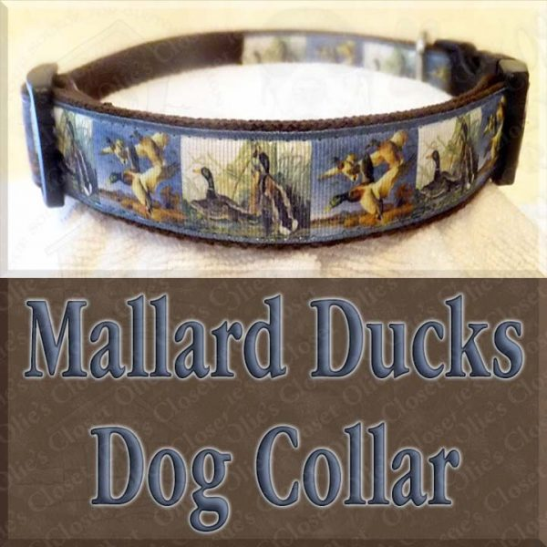 Mallard Ducks Designer Dog Collar Product Image No2