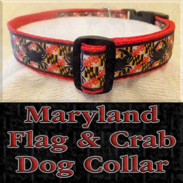 Maryland Flag Crab Designer Dog Collar Product Image No2