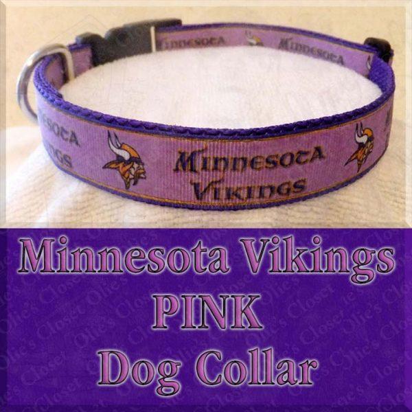 Minnesota Vikings PINK Dog Collar Product Image No2