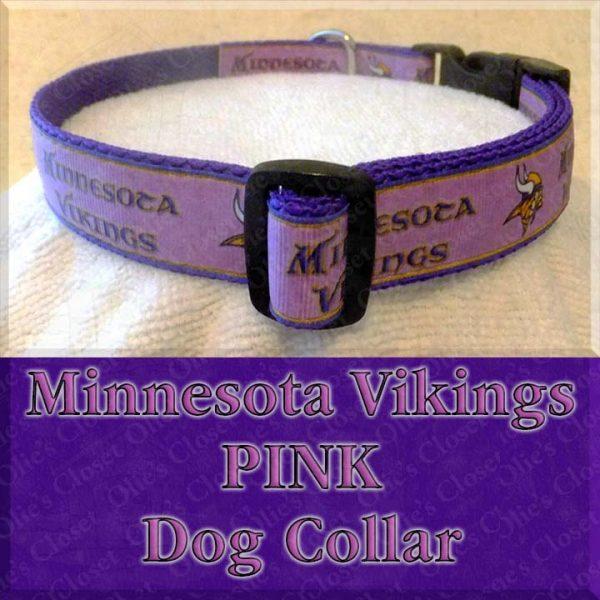 Minnesota Vikings PINK Dog Collar Product Image No3
